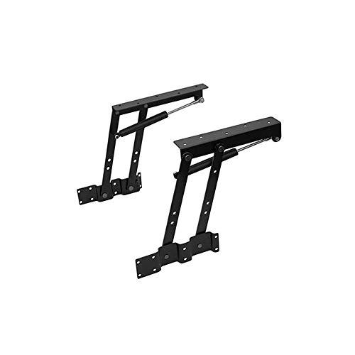 Zhuowei Tisch-Mechanismus aus Stahl, robust, zusammenklappbar, schwarz, Mechanismus für Tablett aufklappbar, Feder, Scharnier, Lift Up für Couchtisch,2