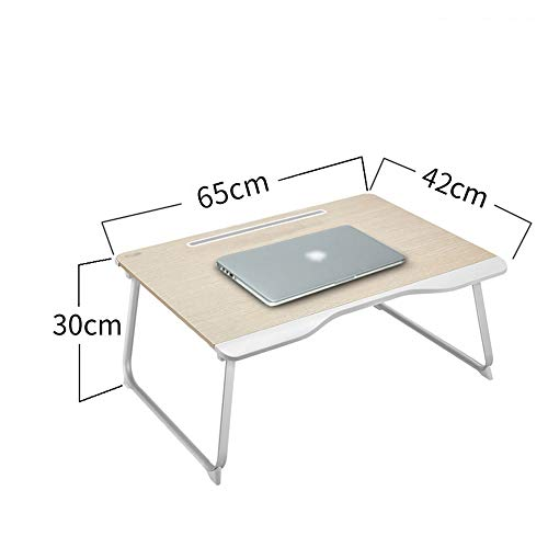LIYONG Bed table laptop table desk dormitory bed simple folding table children learning bay window desk board (Size : 1)