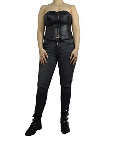 HM-Moden Damen Leder Corage aus weichem Lammleder in schwarz, (Artikel Cors), Größe:36, Farbe:Black