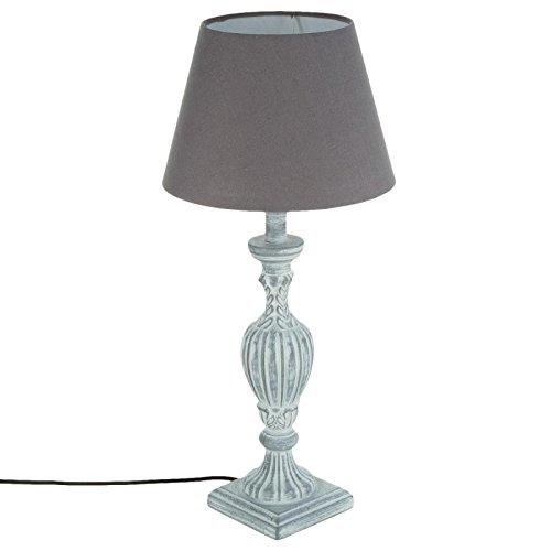 Atmosphera Créateur d'intérieur - Lampe à Poser en Bois Patine 56cm Gris