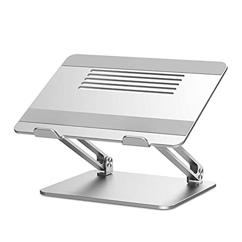 LNX Soporte Plateado para computadora portátil, Ergonómico, Soporte Ajustable de elevación para portátil, Portátil y Plegable, para portátiles de Menos de 17 Pulgadas