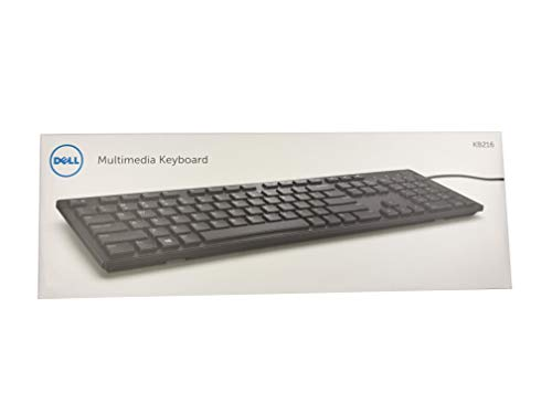 Dell KB216 RX6RM 9DMCC USB UK layout multimedia low profile Desktop Keyboard QWERTY 580-ADGV Retail packed