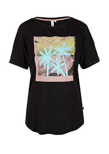 Preisvergleich Produktbild Q / S designed by Damen T-Shirt mit modischem Fotoprint Black Placed Print M