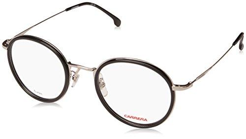 Carrera CA163/V/F Oval Prescription Eyeglass Frames, Black/Clear Demo Lens, 47 mm