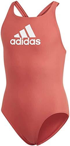 adidas Kinder YA BOS Suit Badeanzug, Rojglo/Blanco, 140 (9/10 años)