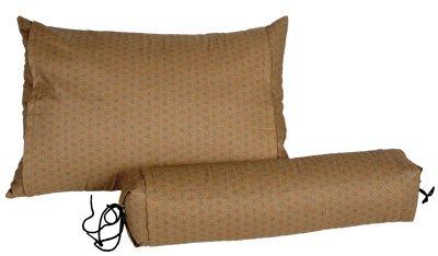 "J-Life Buckwheat Hull Pillow - Japanese Soba Gara Makura - Rectangular 13"" x 18"" - Asa No Ha Gold #3"