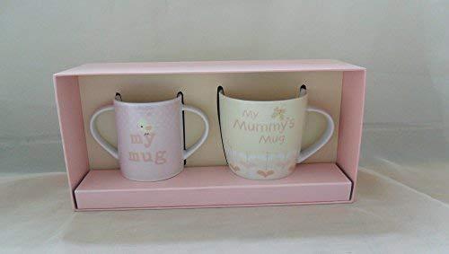 BABY BOUTIQUE Baby Gifts 50991 Coffret cadeau avec mug pour maman et bébé Rose