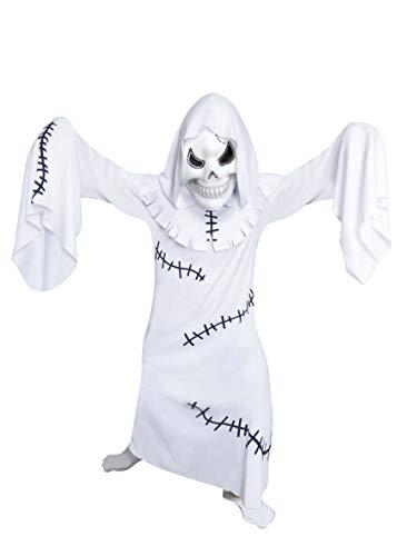 Amscan 995997 - Kinderkostüm Gruseliger Geist, Robe mit Kapuze, Maske, Gespenst, Mottoparty, Karneval, Halloween
