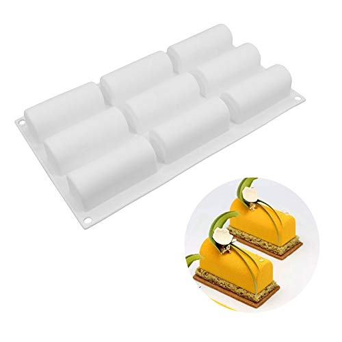 Beicemania® Mini Taartblikken Rechthoek Taartblik 3D Taartblikken Mousse Taartvormen Siliconen Wit Chocolade Vorm