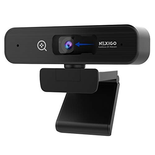 NexiGo 2K Zoomable Webcam with Sony Sensor | AutoFocus | Support 1080P@ 60FPS | 3X Digital Zoom | Dual Microphone & Privacy Cover, for Streaming Online Class, Zoom/Skype/Facetime/Teams
