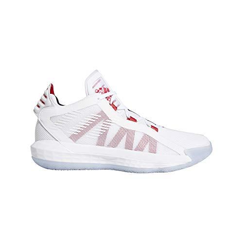 adidas Performance Dame 6 Basketballschuh Herren weiß/rot, 18 UK - 54 2/3 EU - 19 US