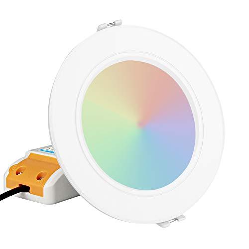 Milight LED Downlight 2,4G Wireless 6W RGB + CCT LED Downlight Dimmbare Fernbedienung Spotlight FUT068 (6W)