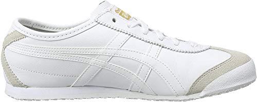 Onistuka Tiger Mexico 66 Unisex-Erwachsene Sneakers, Weiß (0101-10), 40 EU