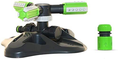 FANPING Lawn Sprinkler, automatische 360 dreh Verstellbare Kinder-Sprenger Rasen-Bewässerungssystem Covering große Fläche mit Durable 3 Arm Sprayer