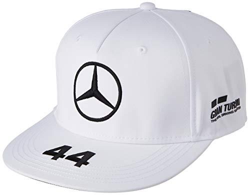 Mercedes-AMG Petronas Lewis Flat cap Cappellino da Baseball, Bianco, Taglia Unica Unisex-Adulto