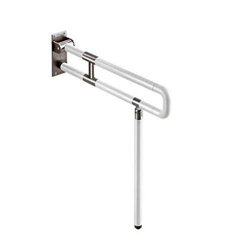 Dongyd leuningen voor gehandicapten Anti-Slip Toilet Handrail Opvouwbare RVS Badkamer leuningen Barrier-Free Safety Support Railing Tools Gehandicapten Mensen Ouderen en Post-Operative Man Persoonlijke Pr