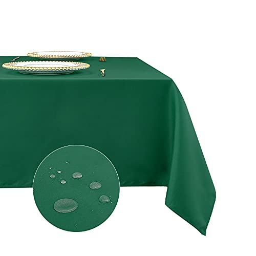 Romanstile Rectangle Tablecloth 54 x 54 inch - Waterproof and Wrinkle Resistant Washable Polyester Table Cloth for Kitchen Dining/Party/Wedding Indoor and Outdoor Use Table Cover (Green)