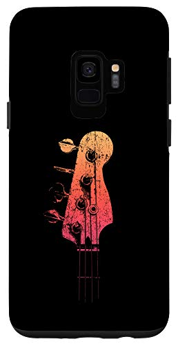 Galaxy S9 Bass Guitar Retro Headstock for Bassist and Bass Player Case