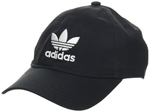 adidas Unisex Trefoil Cap Visor, Schwarz (Black BK7277), One (Herstellergröße:One Size)
