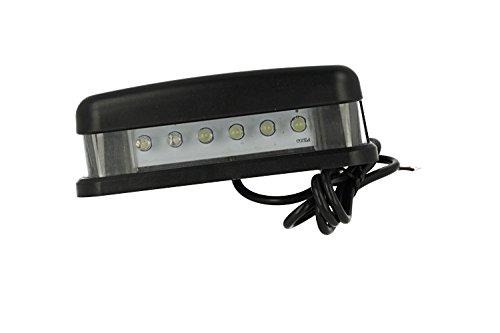 CARALL LE6001 Kit d'éclairage de plaque d'immatriculation LED 12 V 5 W Blanc avec 6 LED F5