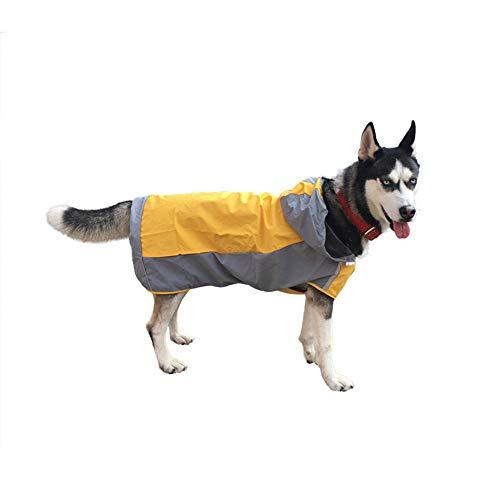 Pessica Medium en grote hond ademende regenjas, zonnebrandcrème, koud, comfortabel en draagbaar, reflecterende strip, [geel groen. Meerdere maten, geel, nummer 6