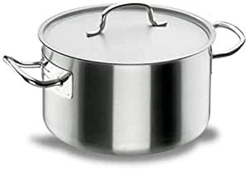 Lacor - 50051 - Cacerola Alta Con Tapa Chef Classic 50cm Inox