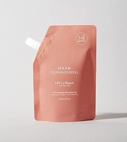 HAAN - Refill Pasta de Dientes 150 ml - Formulada con Hidroxiapatita Mineral - Ingredientes 96% de Origen Natural - Sabor Té Chai y Mint