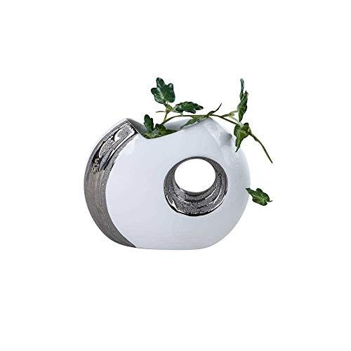 Moderno Vaso Decorativo Per Fiori in ceramica Stella alpina Altezza 19 cm