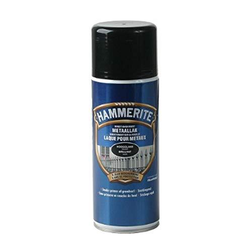 Spray laque métaux Hammerite Brillant Noir - 400ml