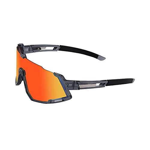GUIH Gafas de sol polarizadas deportivas con 4 lentes para hombres y mujeres Ciclismo Gafas para MTB Mountain Bike Protección Deportes Gafas C4