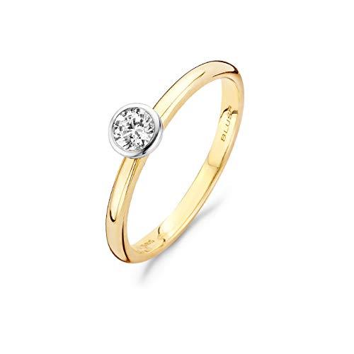 Blush 14 Karaat Gouden/Witgouden Ring 1124BZI/54 (Maat: 54)