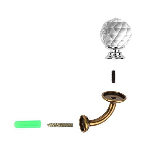 Perchero de cristal Gancho de montaje en pared Baño Guardarropa Perchero Soporte de aleación de zinc(Transparente)