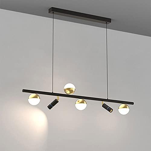 LED Araña simple y moderna, Luces colgantes de mesa de comedor nórdicos, Luces colgantes creativas de cabeza redonda blanca / cálida personalizadas, sala de estar, iluminación de pasillos del dormitor