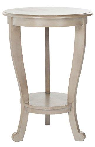 Safavieh EUH5711 Beistelltisch, Holz, Grau, 45 x 45 x 66.04 cm