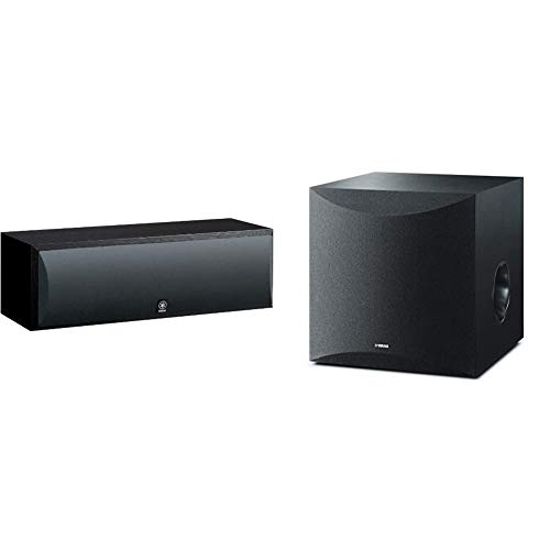 Why Should You Buy Yamaha NS-C210BL Center Channel Speaker, Black with Yamaha 10 100W Powered Subwo...