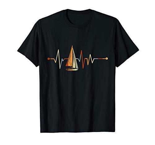 Segler Geschenk Segelboot Meer Herzschlag Segeln T-Shirt