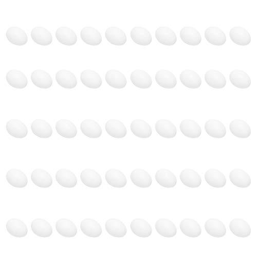 WOUPY Simulación de Huevos de Paloma, Huevos de pájaro Falsos Que ayudan a incubar Huevos Artificiales de Efecto Realista Suministros de Aves para Ayudar a Las Palomas a incubar Huevos