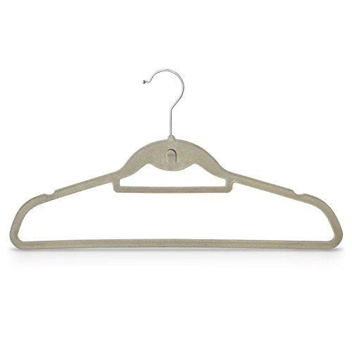 10 Stück - Kleiderbügel mit Samt überzogen & Hosenstange