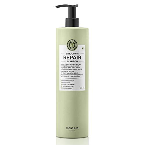 Maria Nila - Structure Repair Shampoo 1ll | sanftes Haarshampoo für geschädigtes Haar, MN-3603