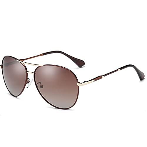 AMFG Gafas de sol polarizadas clásicas para mujeres con espejo de lentes marco de metal UV 400 (Color : E)