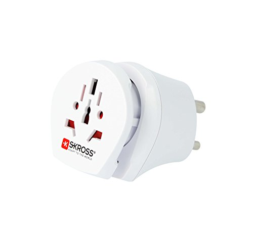 Skross ZUB-SKR-CNT-W.IN.W - Adaptador de Enchufe Europeo para la India, Color Blanco
