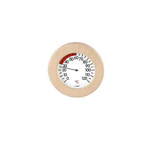 eliga thermometer in houten frame voor infrarood cabine 155 mm
