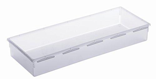 Rotho Basic Ordnungssystem, Kunststoff (PP), transparent, (38 x 15 x 5 cm)