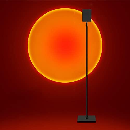 Luz De Noche con Soporte De Suelo para Dormitorio, Lámpara De Proyección De Puesta De Sol con Arcoíris, Luz LED, Rotación De 180 Grados, Lámpara De Atmósfera Visual 180cm