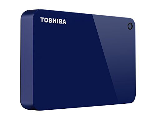 Toshiba (HDTC940XL3CA) Canvio Advance 4TB Portable External Hard Drive USB 3.0, Blue