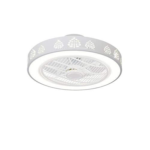 ASPZQ Lámpara de Techo Moderna con Ventiladores, Lámpara de Ventilador Control Remoto Decoración Dormitorio Ventilador Moderno Accesorio para El Hogar (Color : H, Size : 200-240V)