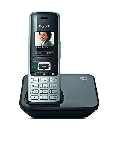 Gigaset S850 - Teléfono inalámbrico con manos libres, conexión Bluetooth, pantalla en color, agenda de 500 contactos, conexión auriculares, protección de llamadas anónimas