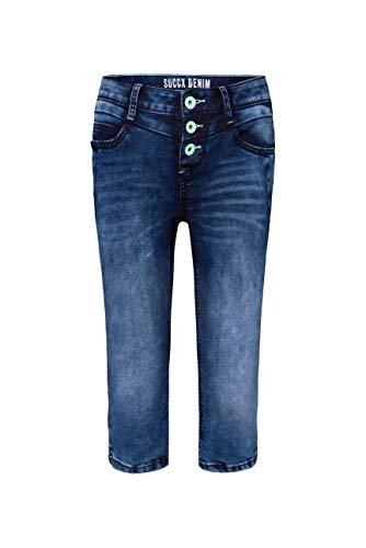 SOCCX Damen Capri Jeans LY:IA mit bunter Knopfleiste
