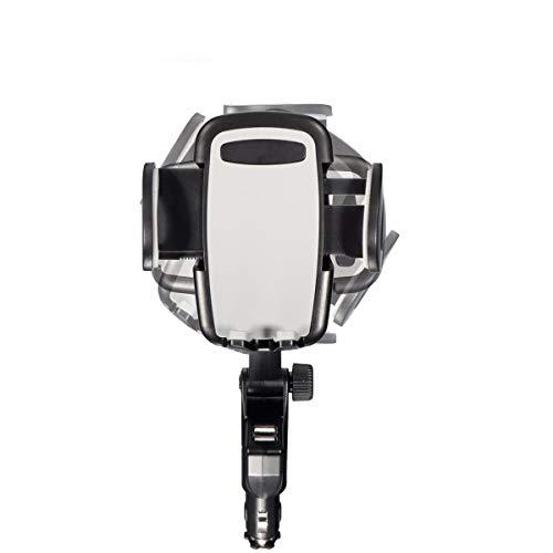 Soporte universal del soporte del teléfono del coche ABS doble cargador USB montaje celular GPS MP4 titular cuna