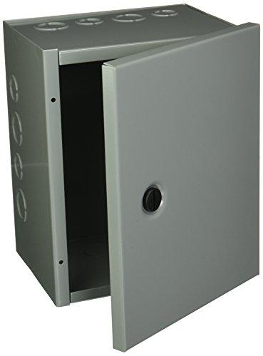 Hoffman AHE10X8X6 Pull Box, Hinged Cover, Steel, 10' x 8' x 6', Gray